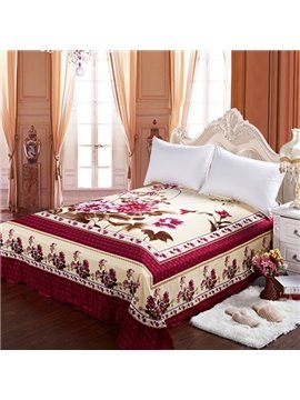 Hot Selling Rosy Flowers Printing Cotton Sheet