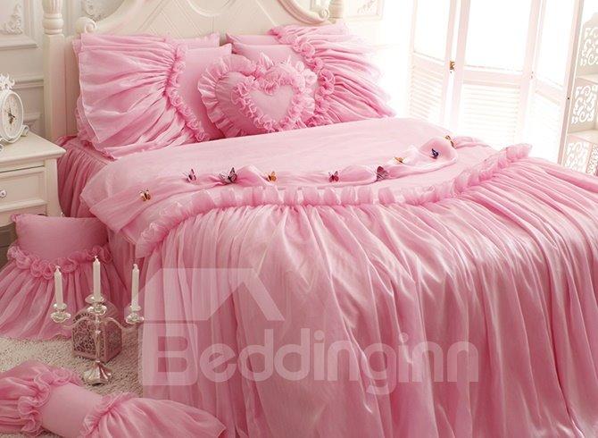 Pink Princess Style Kids 4-Piece Duvet Cover Set