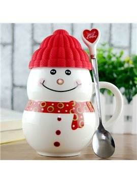 Cute Snowman Ceramic Coffee Cup 1-Piece
