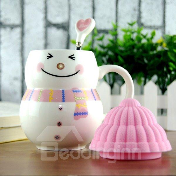 Cute Snowman Ceramic Coffee Cup 1-Piece