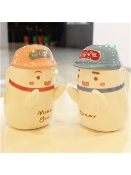 Romantic Cute Hugging Lovers 1-Pair Ceramic Coffee Mug Sets