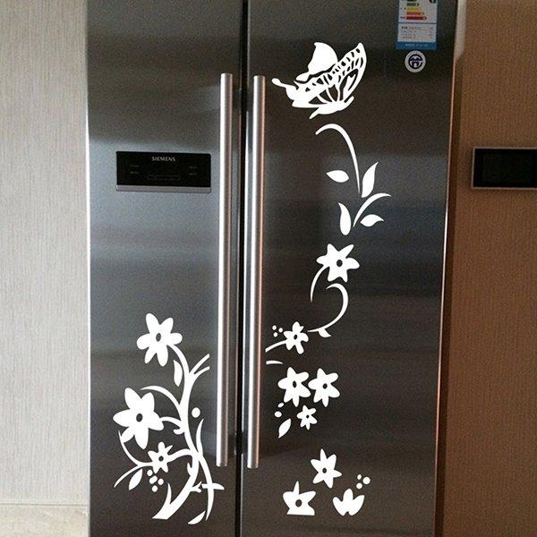 Wonderful Flower Vane Fridge Wardrobe Removable Wall Sticker