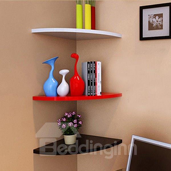 Wonderful Fan Shaped 1-Piece Corner Wall Shelf