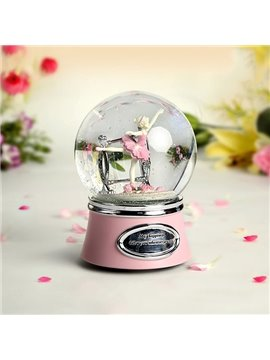 Wonderful Ballet Girl Dancing Crystal Ball Musical Box Gift Idea