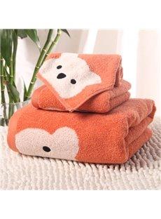 New Design Cartoon Bear Soft 100% Cotton Bath Tower Set