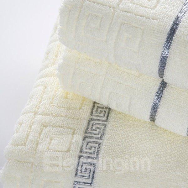 Noble Graceful Style 100% Cotton Bath Towel Set