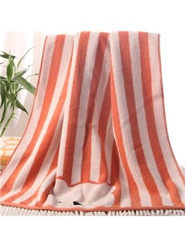Lovely Cartoon Bear and Stripes Pattern Thick Bath Tower