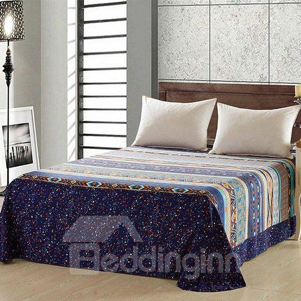 European Style 100% Cotton Blue Printed Sheet
