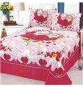 Romantic Roses Reactive Printing Cotton Printed Sheet