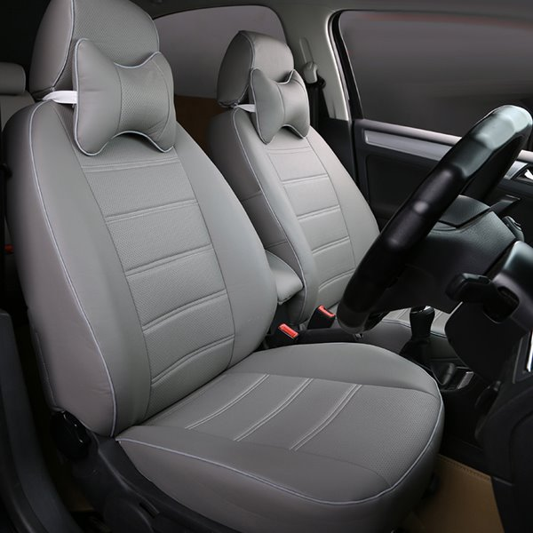 Classic And Concise Designed Pure Color PU Leather Material Custom Fit Seat Cover