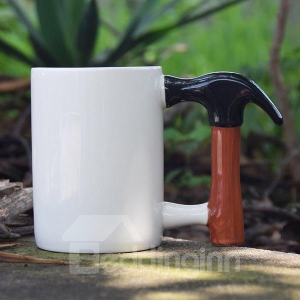 Unique Hammer Handle Design Ceramic Coffee Mug