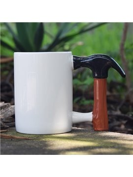 Unique Hammer Handle Design Ceramic Coffee Mug