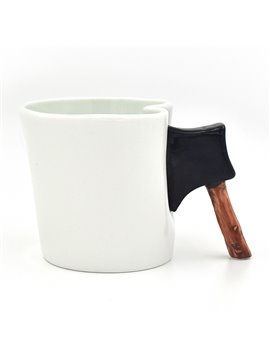 Creative Axe Handle Design Ceramic Coffee Mug