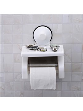 Bathroom Decor Strong Sucker Wall Mounted Toilet Paper Holder
