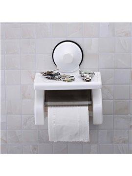 Bathroom Decor Strong Sucker Wall Mounted Toilet Paper Holder