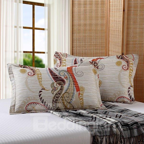 Exotic European Style Cotton 2-Piece Pillow Cases
