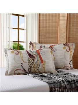 Exotic European Style Cotton 2-Piece Pillow Cases