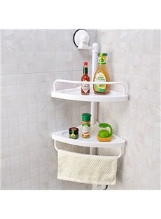 New Style Space Saving Strong Suction Two Layers Bathroom Shelves