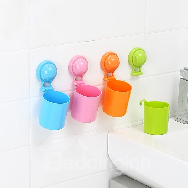 Innovative Design Bright Solid Color Toothbrush Cup