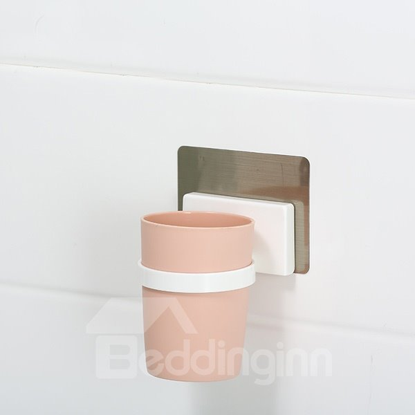 High Quality Concise Marcaroon Color Wall Toothbrush Mounted Cup 11598544