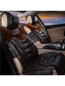 Super Comfortable and Durable Leather Material Universal Fit Car Seat Cover