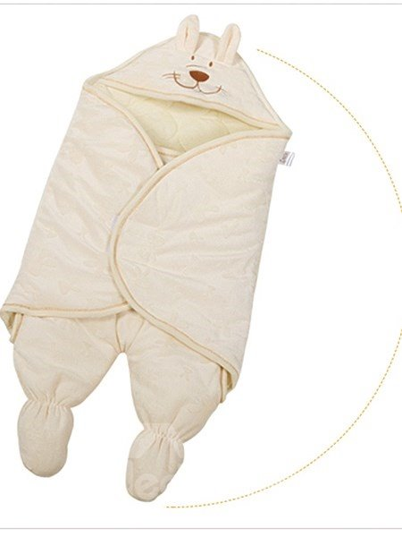 Solid Color Lovely Rabbit Cotton Baby Sleeping Bag