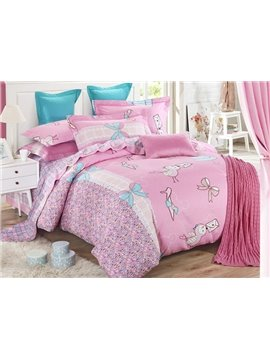 Lovely Sweet Heart Cotton Kids 3-Piece Duvet Cover Sets