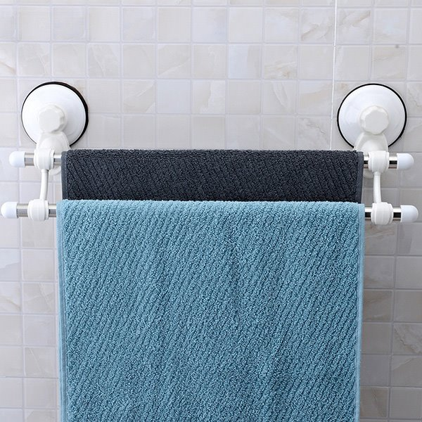 Modern Life Concise Strong Suction Double Tower Bars