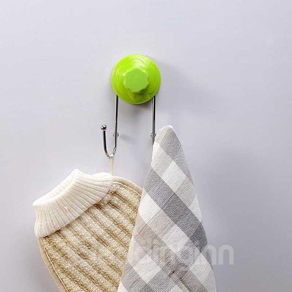 Fashion Multi-functional Solid Color Durable Bathroom Hooks