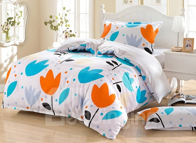 Fresh Plant Pattern Purified Cotton Kids 3-Piece Duvet Cover Sets