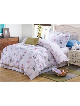 Elegant Butterflies Pattern Kids 100% Cotton 3-Piece Duvet Cover Sets