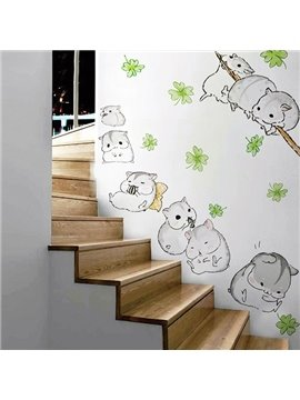 Cute Little Hamsters Removable Wall Sticker