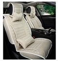 Concise and Durable Linen Material Stripe Patterned Universal Fit Car Seat Cover