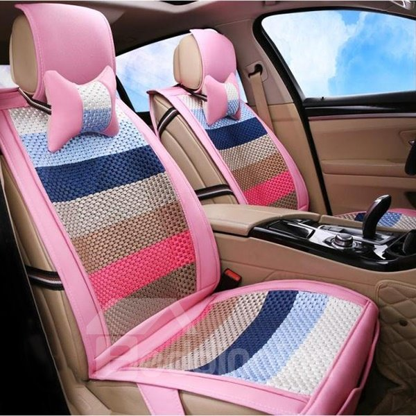 Special Designed Refreshing and Styling Colorblocked Universal Fit Car Seat Cover