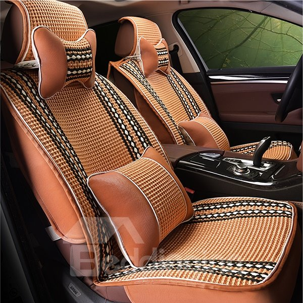 Classic Ice Silk Material Ventilate Designed Universal Fit Car Seat Cover