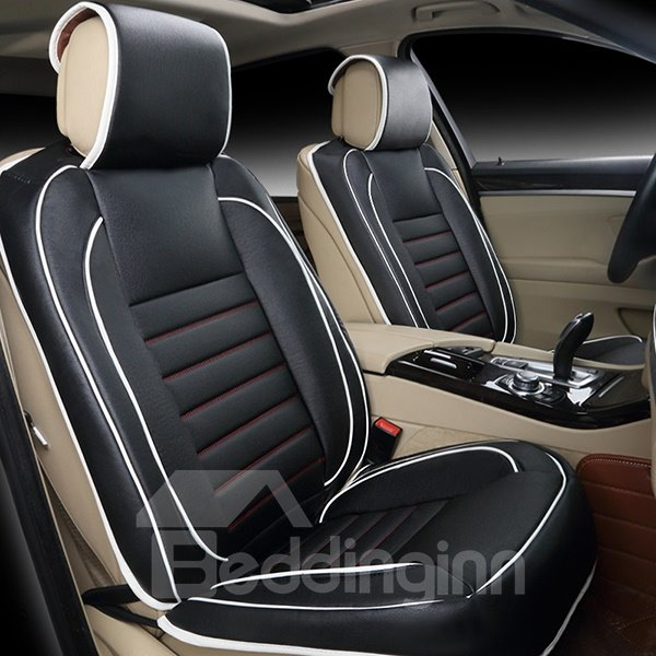 concise and classic pu leather single colored universal fit car seat cover. Black Bedroom Furniture Sets. Home Design Ideas