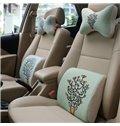 Concise And Styling Linen Material Bird Buckhorn Lumbar Support Car Pillow