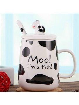 Creative Cow Pattern Ceramic Coffee Milk Cup
