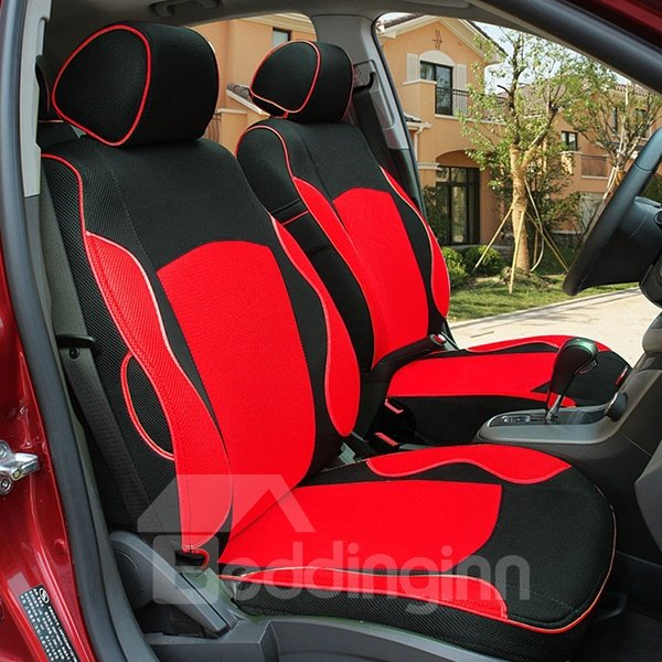 comfortable and ventilate original contrast colored five seats car seat covers. Black Bedroom Furniture Sets. Home Design Ideas