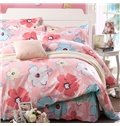 Vivid Flowers Pattern Cotton Kids 3-Piece Duvet Cover Sets
