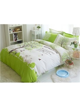 Romantic Tree Print 100% Cotton Kids 3-Piece Duvet Cover Sets