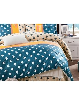 High Quality Bright Stars Pattern Cotton Kids 3-Piece Duvet Cover Sets