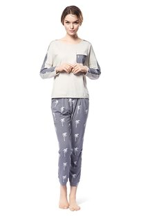 Modern Homedress Leisure Style 100% Cotton Pajamas Set