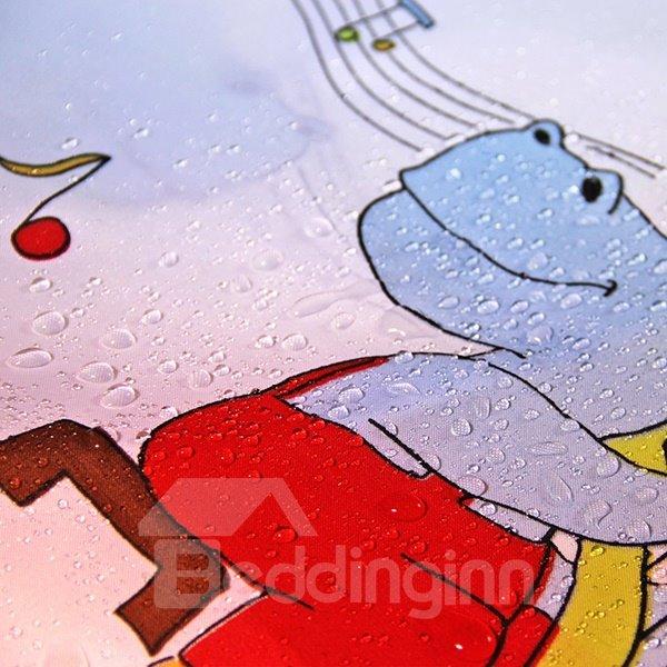 Lovely Cartoon Music Class Print Shower Curtain