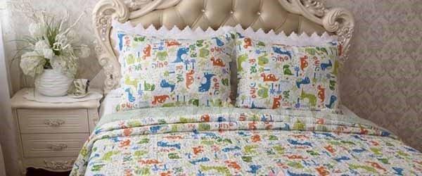 Cartoon Tortoise Print Cotton 3-Piece Bed in a Bag