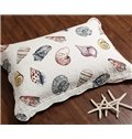 Fancy Colorful Conch Print Cotton 3-Piece Bed in a Bag