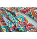 Ethnic Style Big Flowers Print Cotton 3-Piece Bed in a Bag