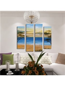Wonderful Coastal Scenery 4-Panel Frameless Wall Art Prints