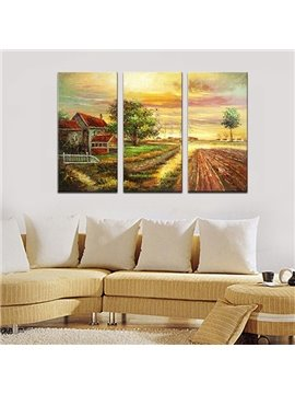 Wonderful Countryside Scenery Oil-Painting 3-Panel Wall Art Prints