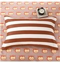 Lovely Owls and Stripes Pattern Cotton Kids 3-Piece Duvet Cover Sets